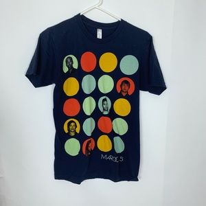 American Apparel Maroon 5 graphic blue tee tshirt